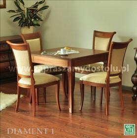 Drewniany stół lity z drewna Diament 1